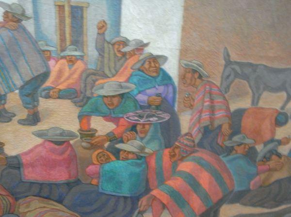 Camilo Blas. Fiesta serrana, óleo, detalle.Banco Central de la Reserva. Lima. Foto R.Puig