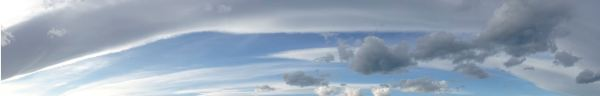 La línea de una isobara se marca en el cielo. Foto R.Puig