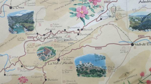 Los valles de la Marina Alta, Comunidad Valenciana, Detalle
