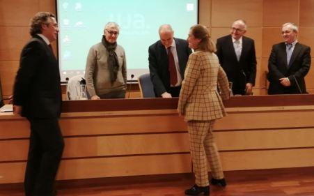 Universidad de Jaen. La profesora María Clara de Lac, en la prueba de acceso al Cuerpo de Catedráticos de Universidad