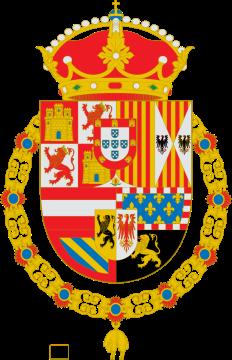 Escudo de Armas de Felipe II a Carlos II.Fuente Heráldica Hispánica. Autor De Miguillen