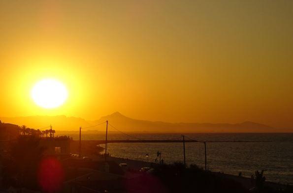 A la puesta del sol. Foto R.Puig