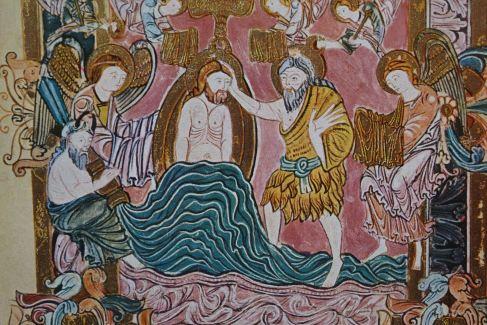 Bautismo de Jesús. Benedictinario. s.X. Colección del Duque de Devonshire