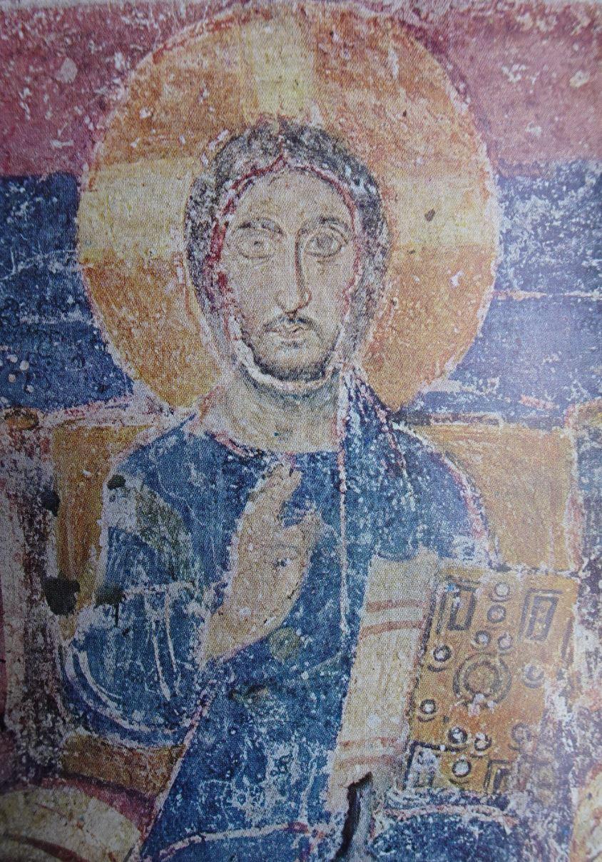 Cristo en majestad. Detalle. Santa Maria Antica. s.VII. Roma