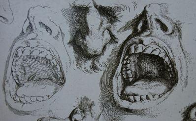 Modelos de narices y bocas de José Ribera, 1622
