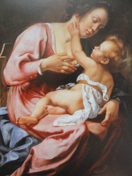 Artemisia Gentileschi. María y Jesús niño. Galería Spada. Roma. Foto R.Puig