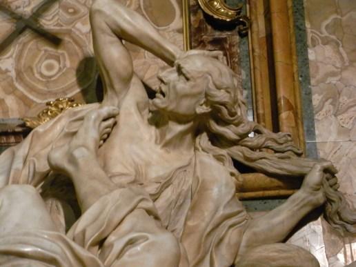 Detalle del triunfo de la Fe. Iglesia del Gesù. Roma