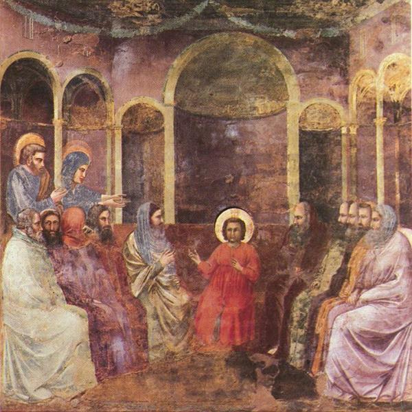 Giotto. Jesús entre los doctores. Capilla Scrovegni, Padua