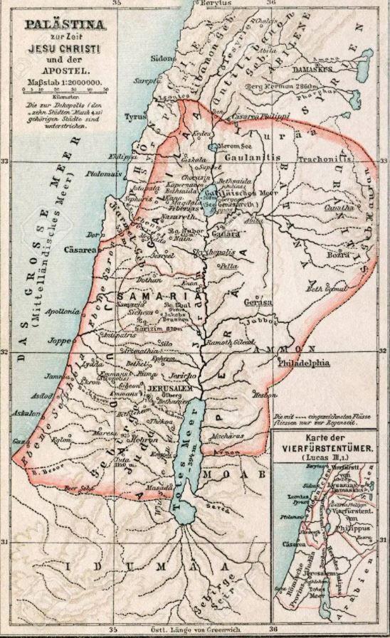 Mapa de Israel en la época de Jesús bis